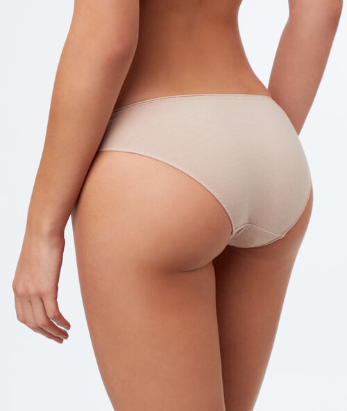 Plain briefs, openwork trim