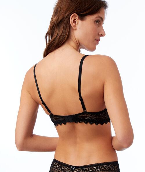 Bra No. 3 - Lace triangle push-up bra