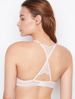 Racer-back push-up bra blush.