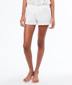 Pyjamashorts white.