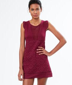 Embroided nightdress burgundy.