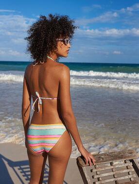 Basic bikini bottom in stripe multicolor.