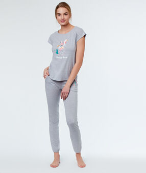 Printed pyjamapants grey.
