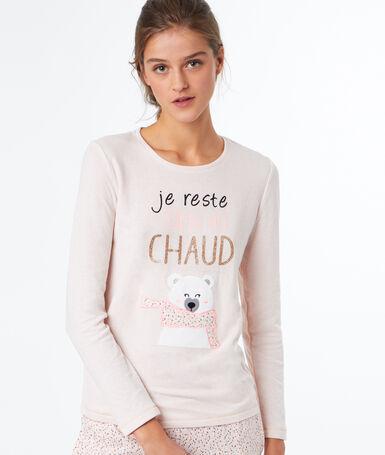 Printed t-shirt pink.