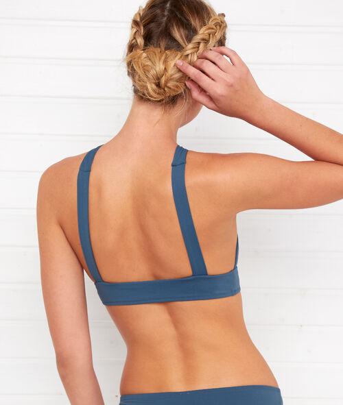 Triangle bikini top, crossed back