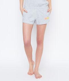 Smiley printed pyjama short grey.