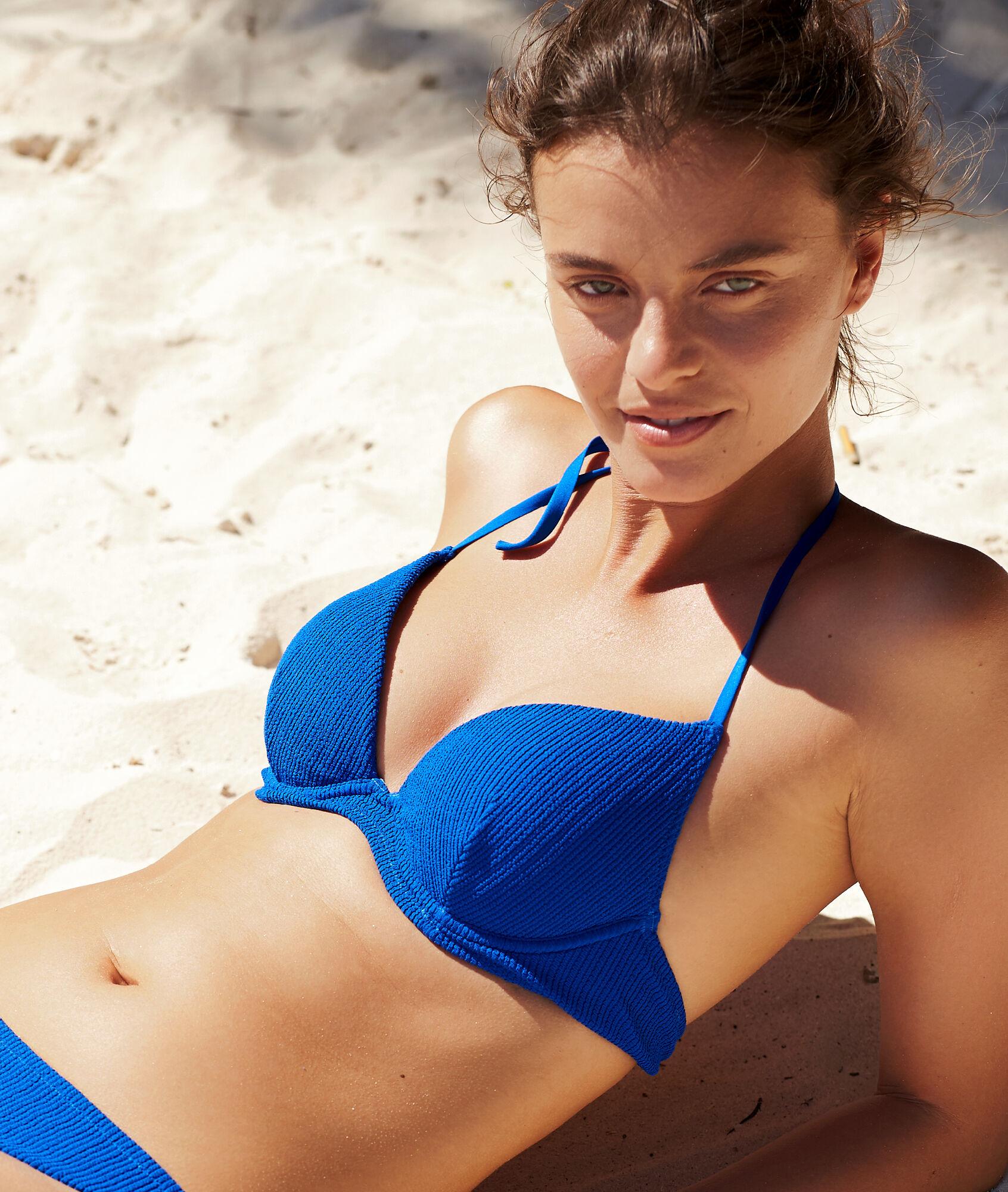 d296805ea1 Haut de maillot de bain push-up texturé - ELYNA - BLEU ROYAL - Etam