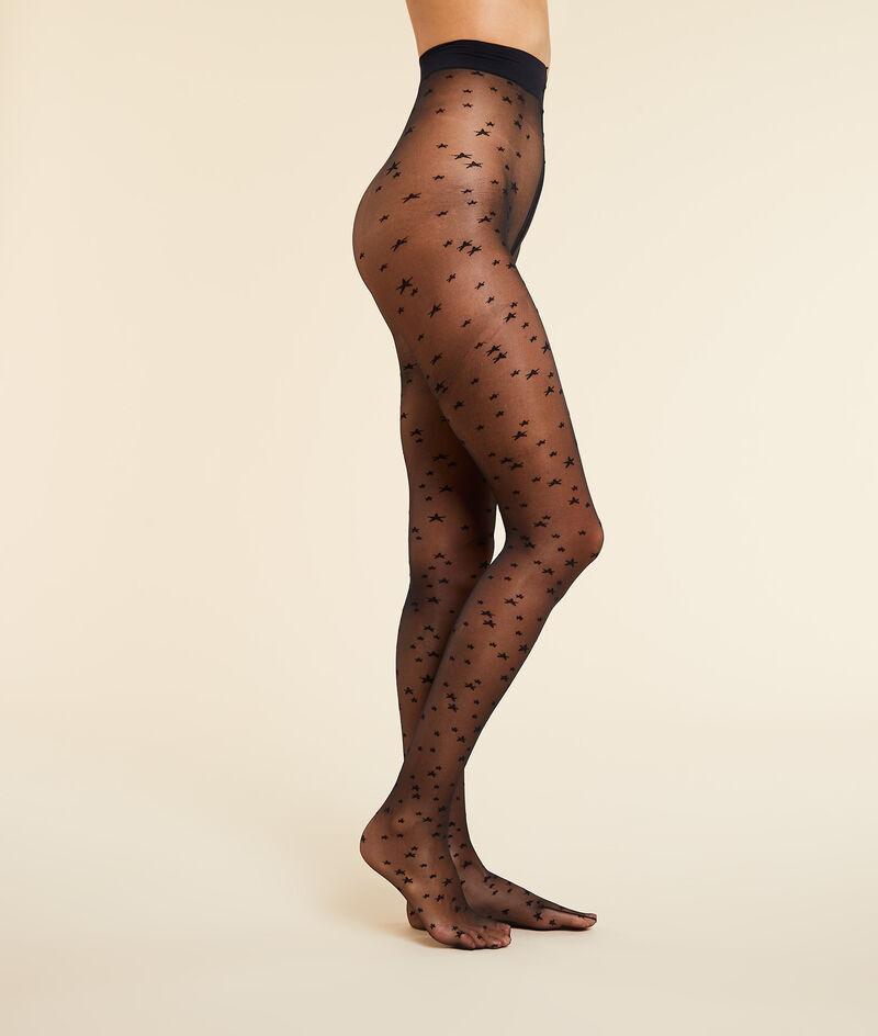 Star print tights;${refinementColor}