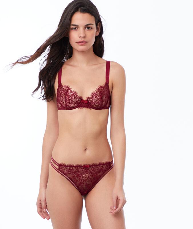 Lace bra, no padding garnet burgundy.