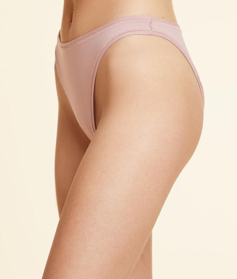 Cotton high leg brief;${refinementColor}