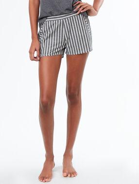 Striped pyjamashorts grey.