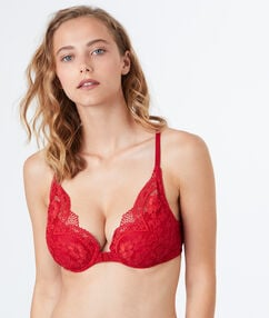 Triangle bra red.