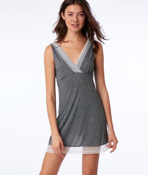 Lace neckline chemise