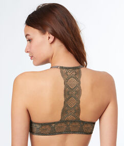 Bra no. 4 - classic padded bra with racer back khaki.