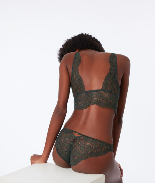 Lace bralet with eyelet