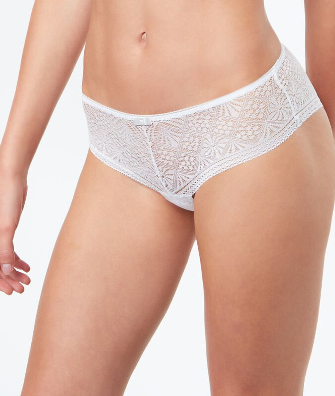 Shorty dentelle blanc.