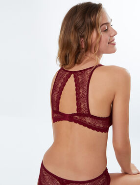 Bra no. 2 - plunging push-up, racer back plum.