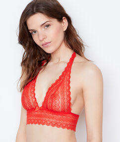 Lace bra orange.
