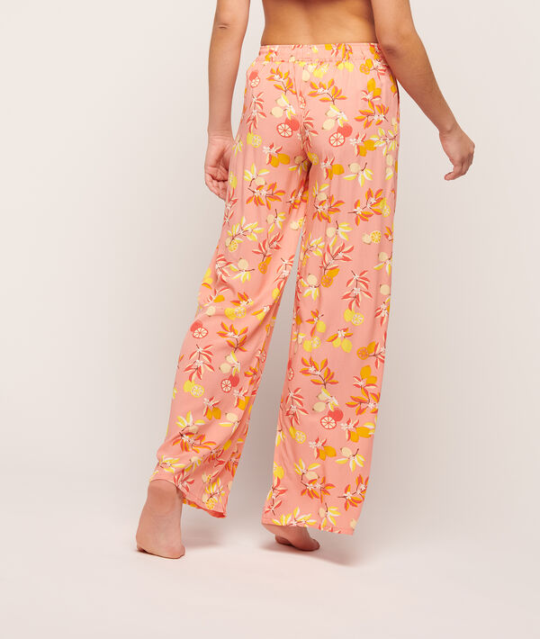 Trousers in a floral print;${refinementColor}