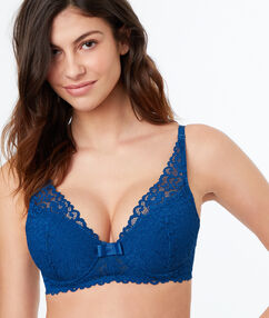 Bra n°6 - triangle lace push-up bra bleu.