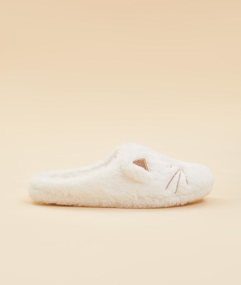 Cat mule slippers ;${refinementColor}