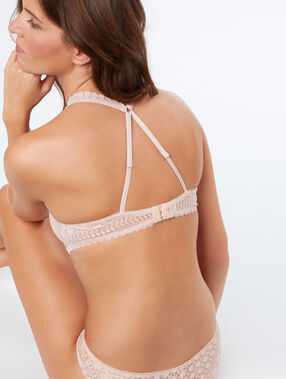 Bra no. 4 - classic padded bra with racer back powder pink.