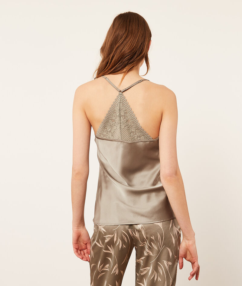 Camisole with lace back;${refinementColor}