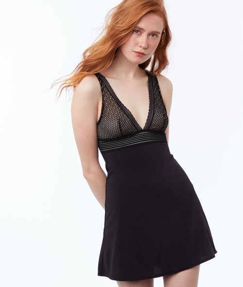 Ornate lace neckline nightie