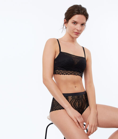 Bra No. 3 - Lace and tulle push-up bra