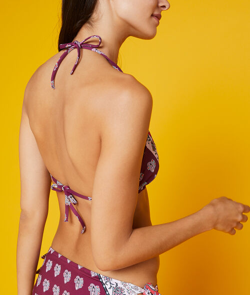 Haut de maillot de bain triangle imprimé