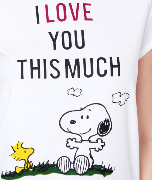 Printed snoopy top