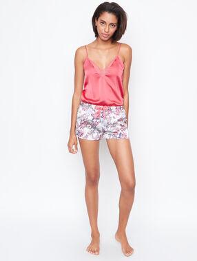 Satine printed pyjama shorts ecru.