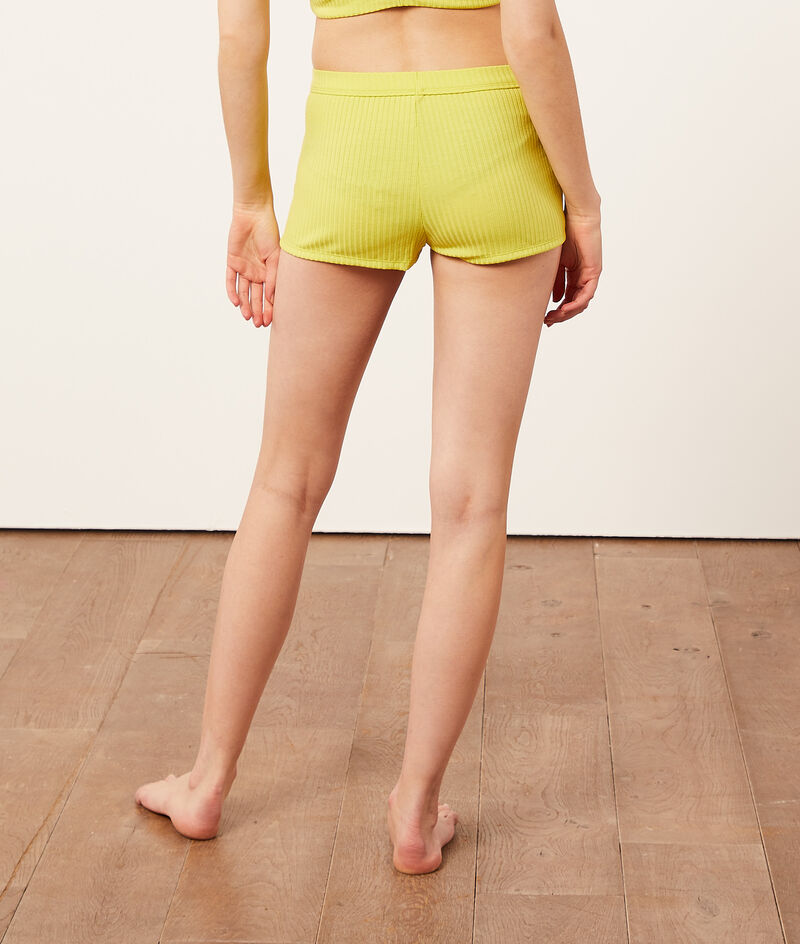Ribbed mesh boy leg shorts;${refinementColor}