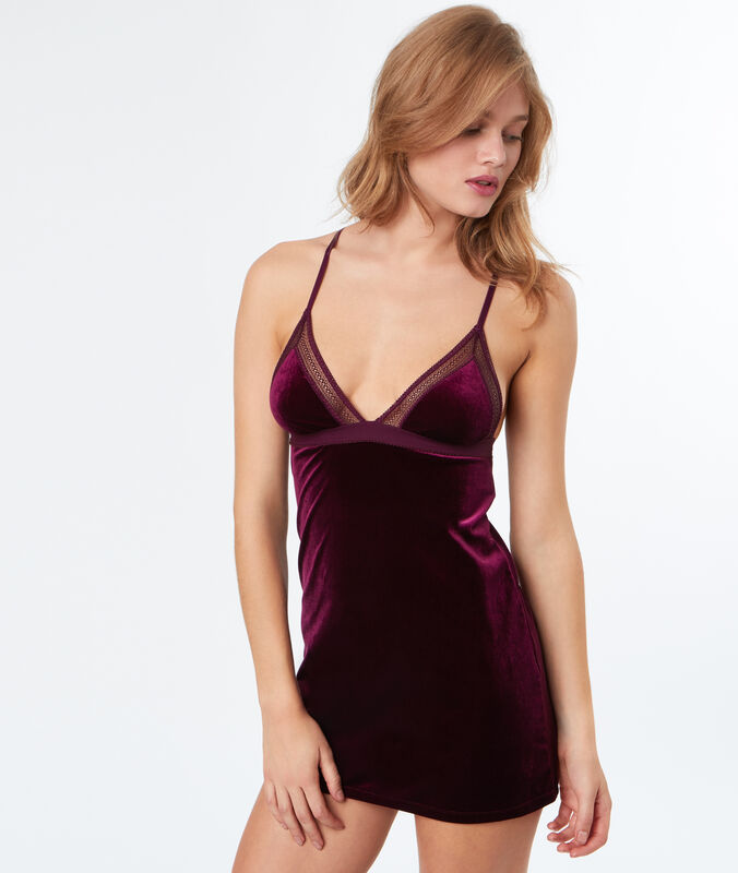 Velvet nightdress burgundy.
