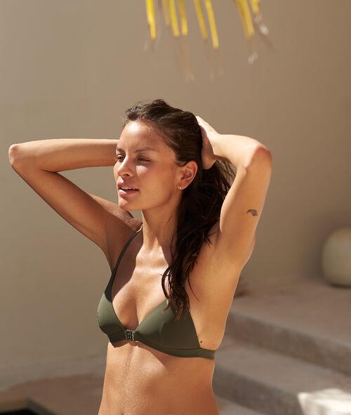 Sujetador bikini con foam detalles encaje. Copa C-E
