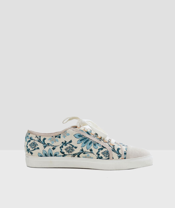Jacquard trainers off-white.