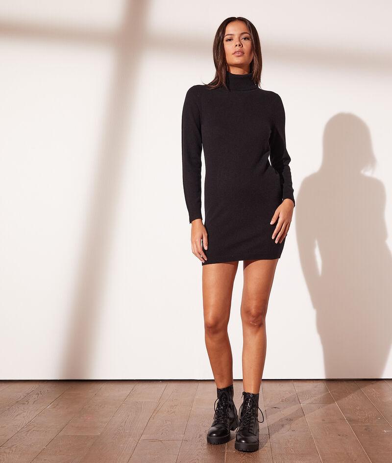 Cashmere polo-neck dress