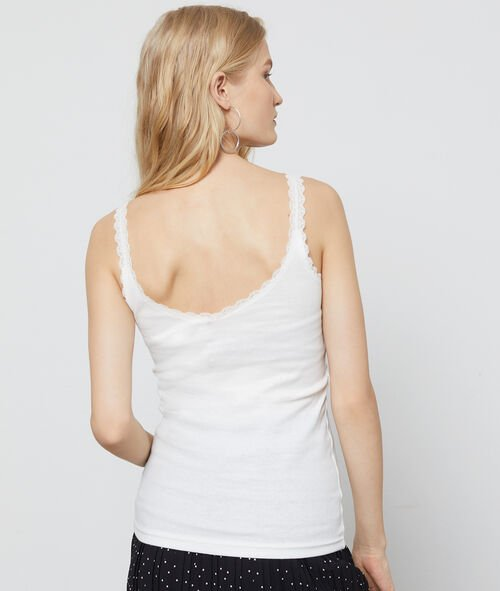 Tank top with lace details