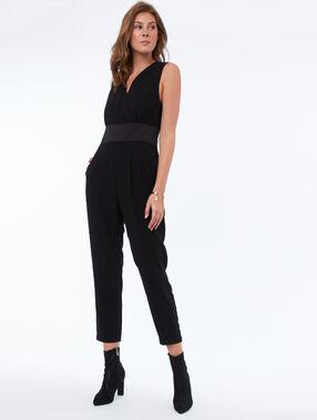 Sleeveless jumpsuit black.