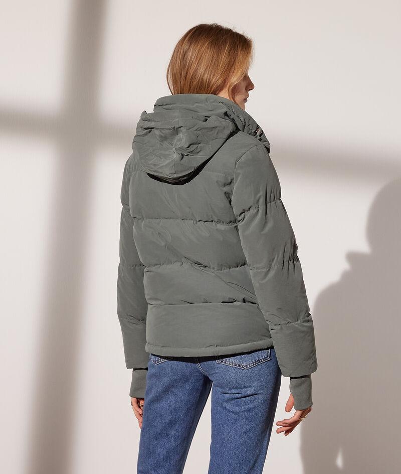 Peach skin effect down jacket