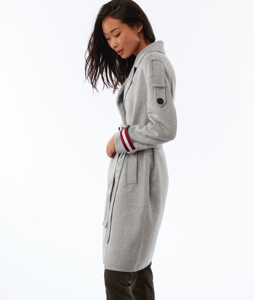 Longline belt coat