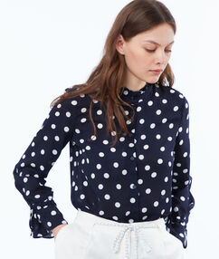 Blouse navy blue.