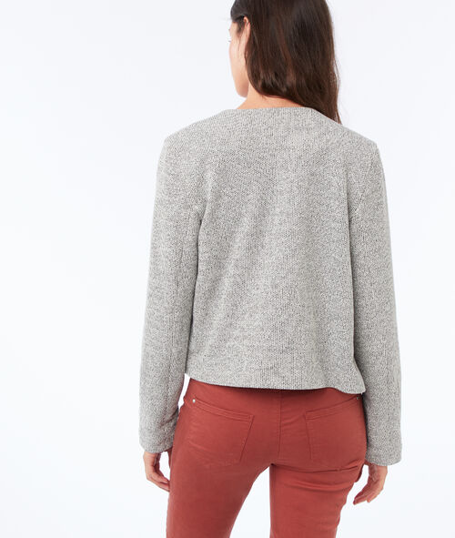 Buttoned jacket with round collar