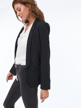 Shawl collar suit jacket black.