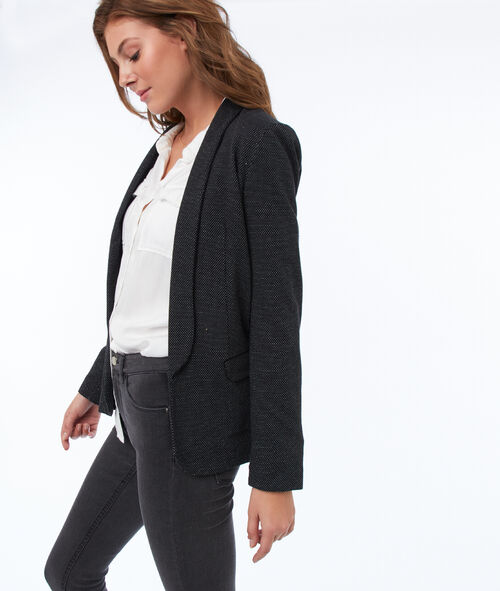Shawl collar suit jacket