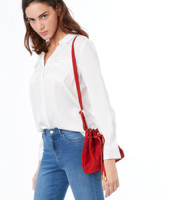 Bucket bag red.