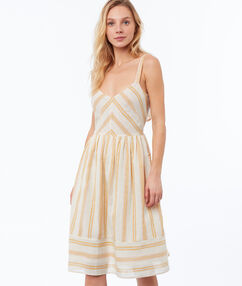 Striped dress ochre.