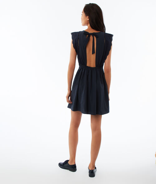 Open back dress with lace detailing