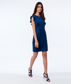 Sleeveless dress ink blue.
