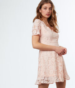 Lace dress nude.